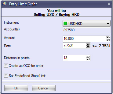 Limit Entry Order